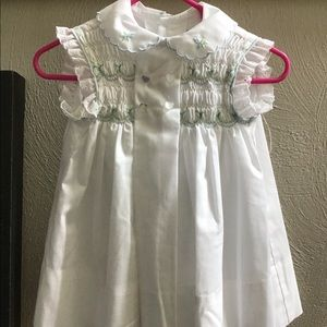 Polly Finders Hand Smocked Girls Dress
